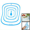 Kitchen Blue Fish Print Thin Flexible PP Chopping Board Cutting Mat