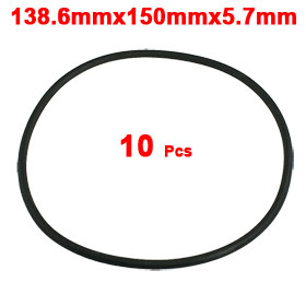 10 Pcs 150mm OD 5.7mm Thickness Nitrile Rubber O-ring Oil Seal Gaskets