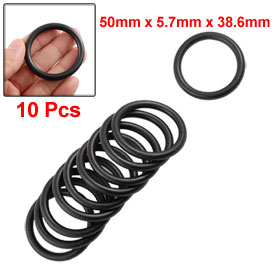 10 Pcs Mechanical Black NBR O Rings Oil Seal Washers 50mm x 5.7mm x 38.6mm