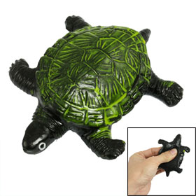 Green Black Soft Silicone Lifelike Tortoise Toy for Children