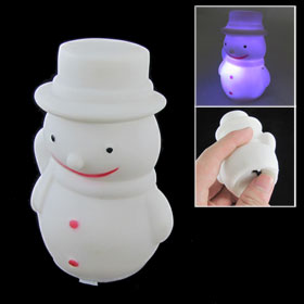 White Snowman Design Color Changing Electronic LED Light Lamp for Home Decor
