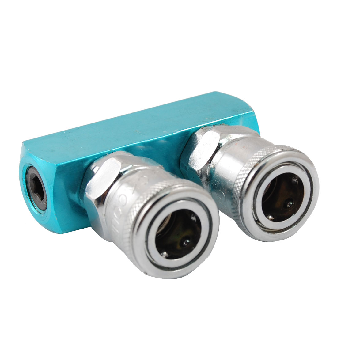 Piping Fitting 2 Way Multi Connector Air Hose Pass Quick Coupler