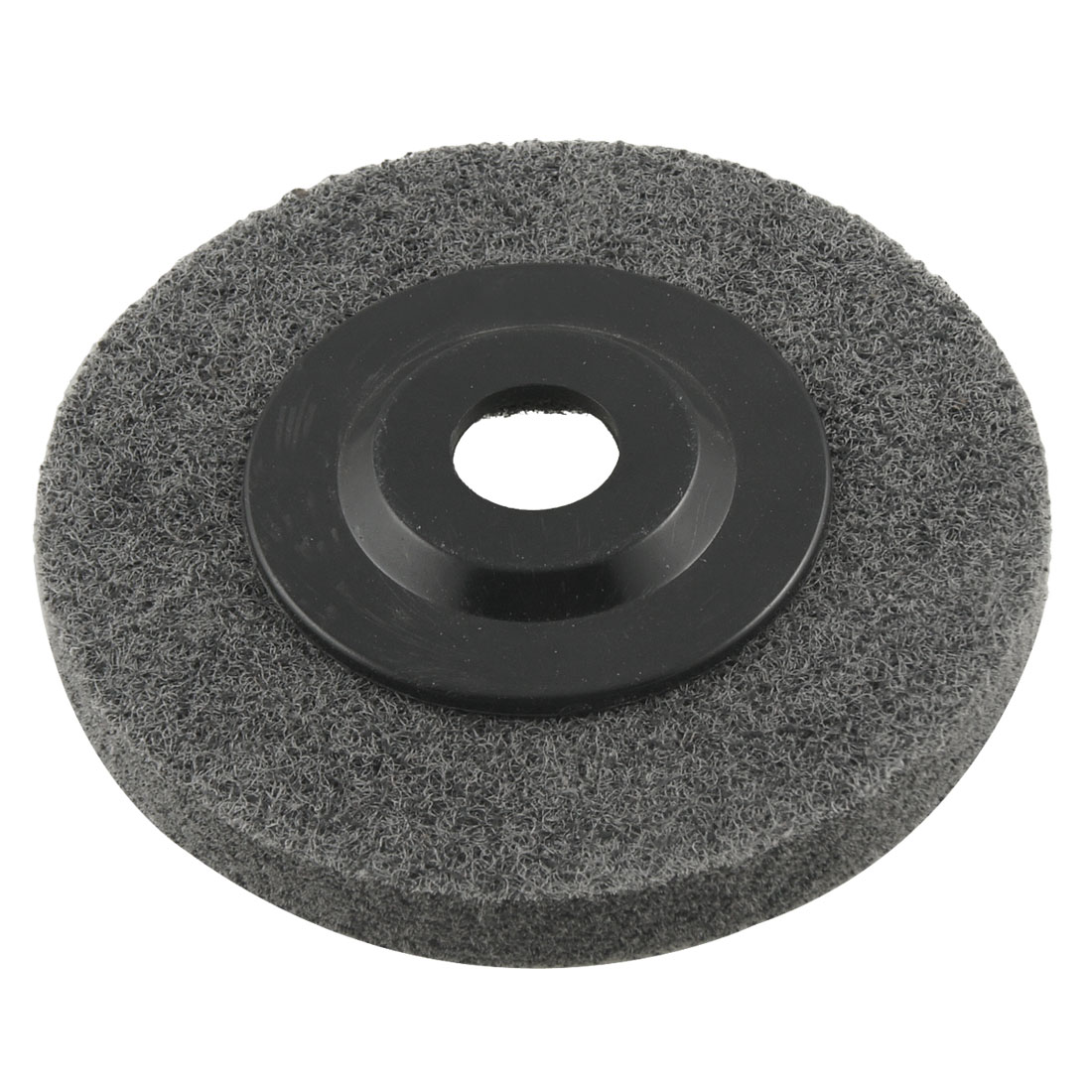 Gray 100mmx12mmx16mm Nylon Buffing Wheel Grinding Disc for Metal