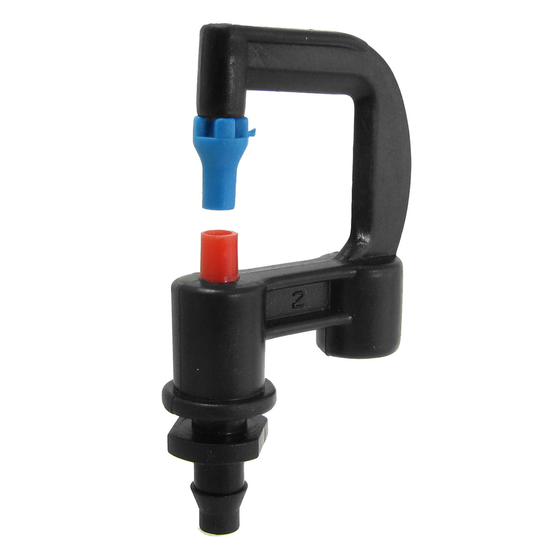 Blue Red Water Outlet Gardem Threaded Plastic Sprayer Nozzle Black