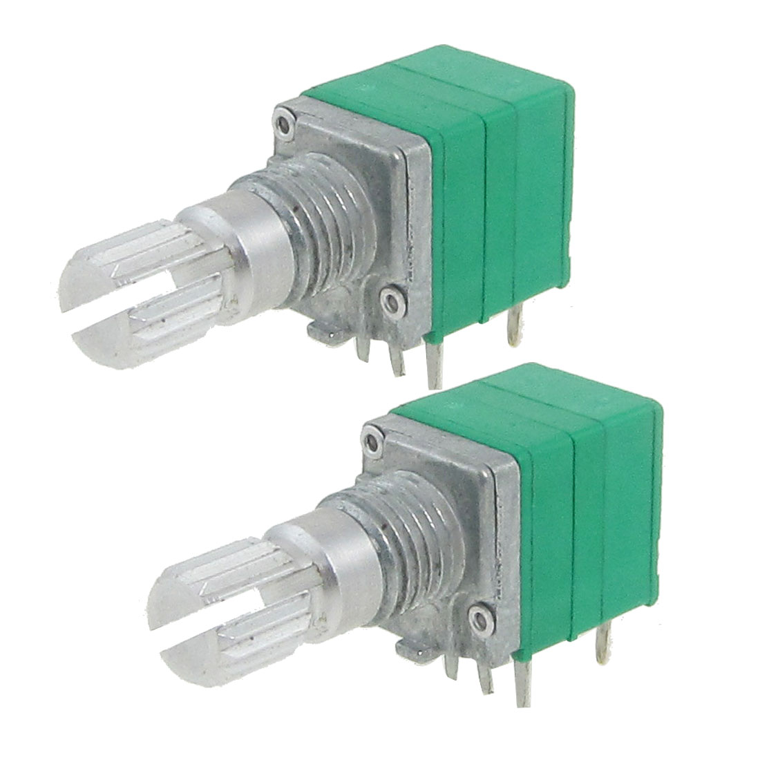 2 Pcs 50K ohm Carbon Composition Rotary Potentiometer R0911NS