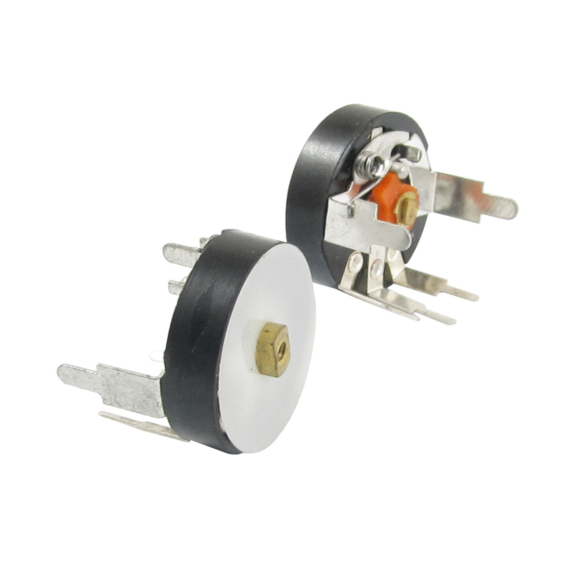 2 Pcs 16mm Diameter 0.1W 50Kohm Carbon Film Potentiometer with Switch