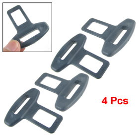 Dark Gray Safety Seat Belt Buckle Alarm Safety Clasp Stop Canceller 4 Pcs for Car Auto