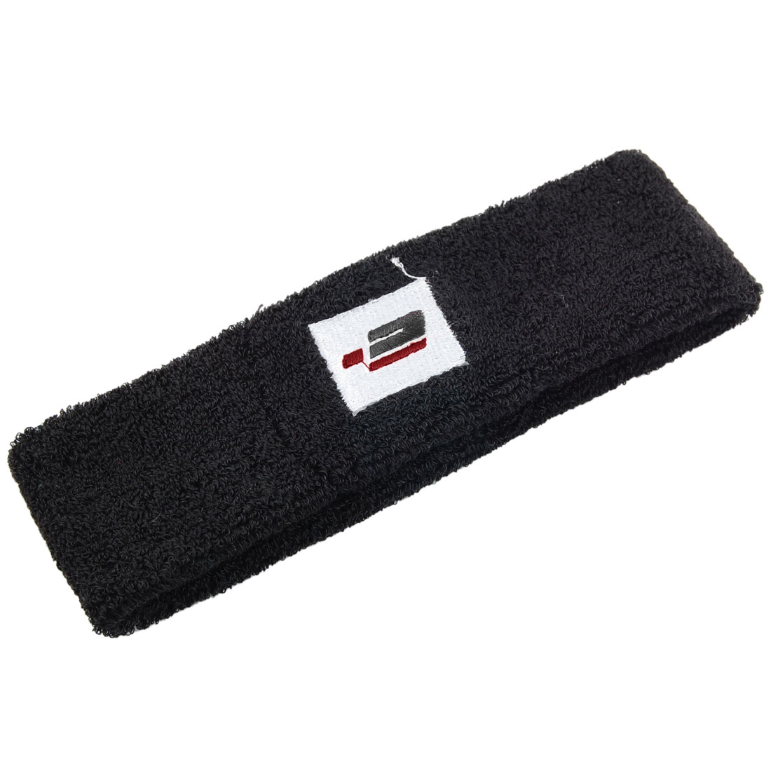 Black Elastic Soft Terry Exercises Protective Headband Sweat Band