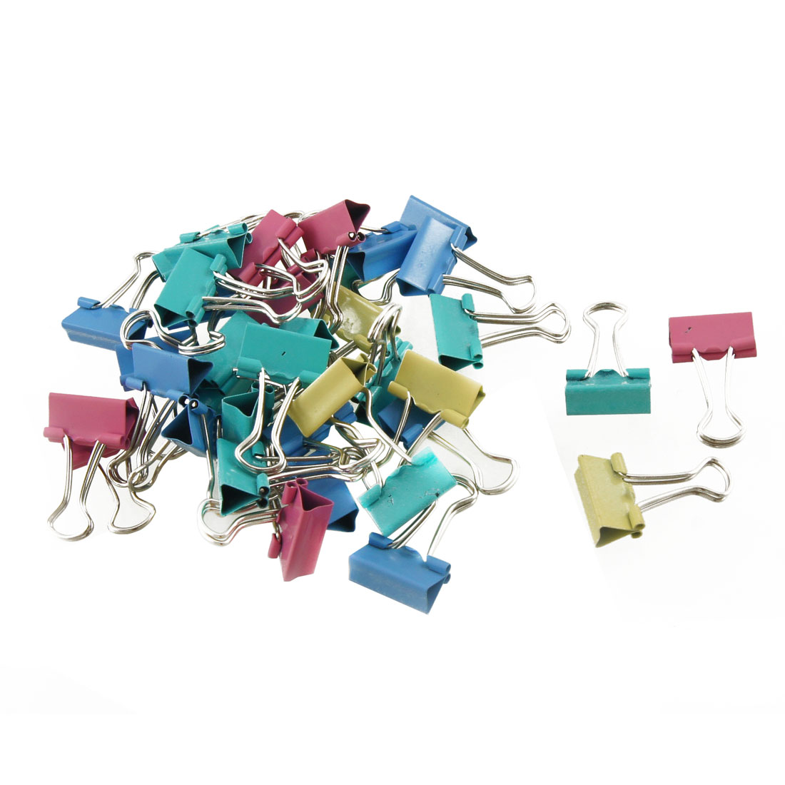 Office School Assorted Color Metal Binder Clips 40 Pcs