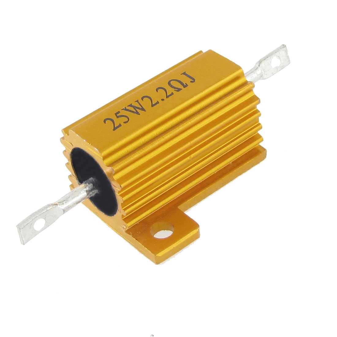 Gold Tone 5% 25W 2.2 Ohm Screw Tap Mounted Aluminum Shell Wirewound Resistor