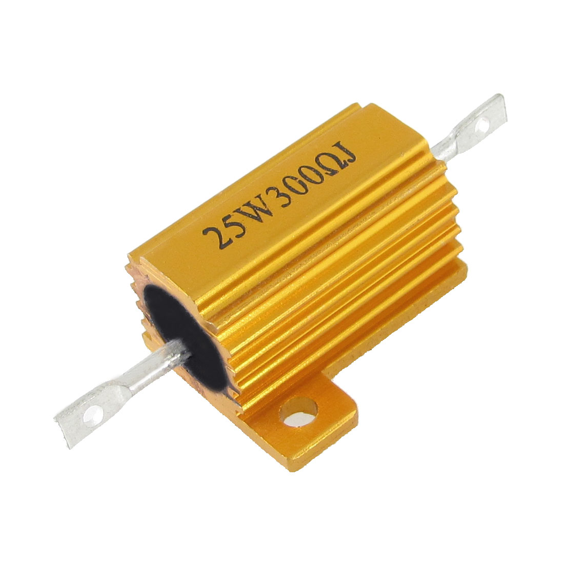 Chassis Mount Wirewound Aluminium Housed Power Resistor 5% 25W 300 Ohm