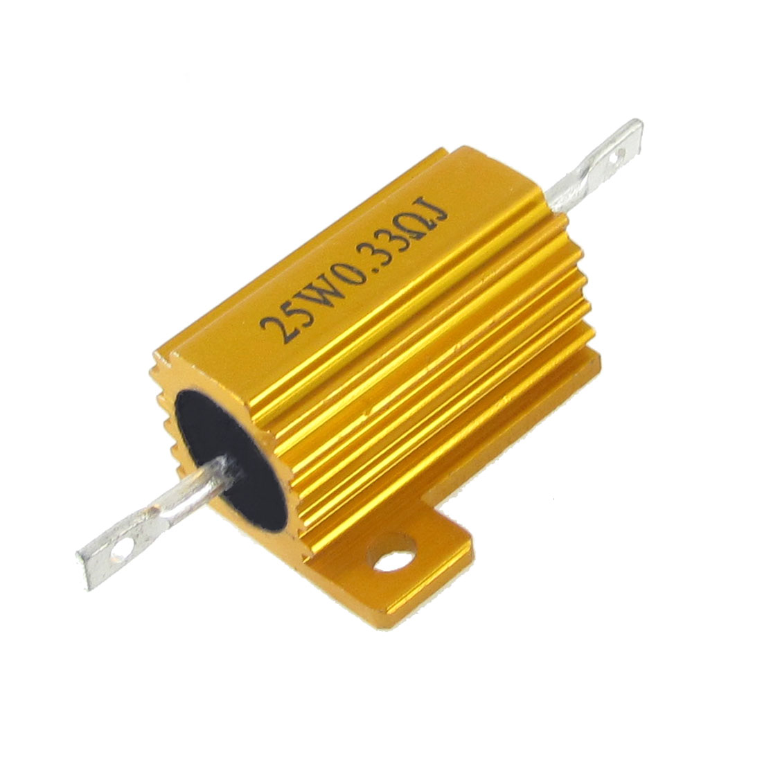 Gold Tone 25 Watt Power 0.33 Ohm 5% Aluminum Casing Wire Wound Resistor