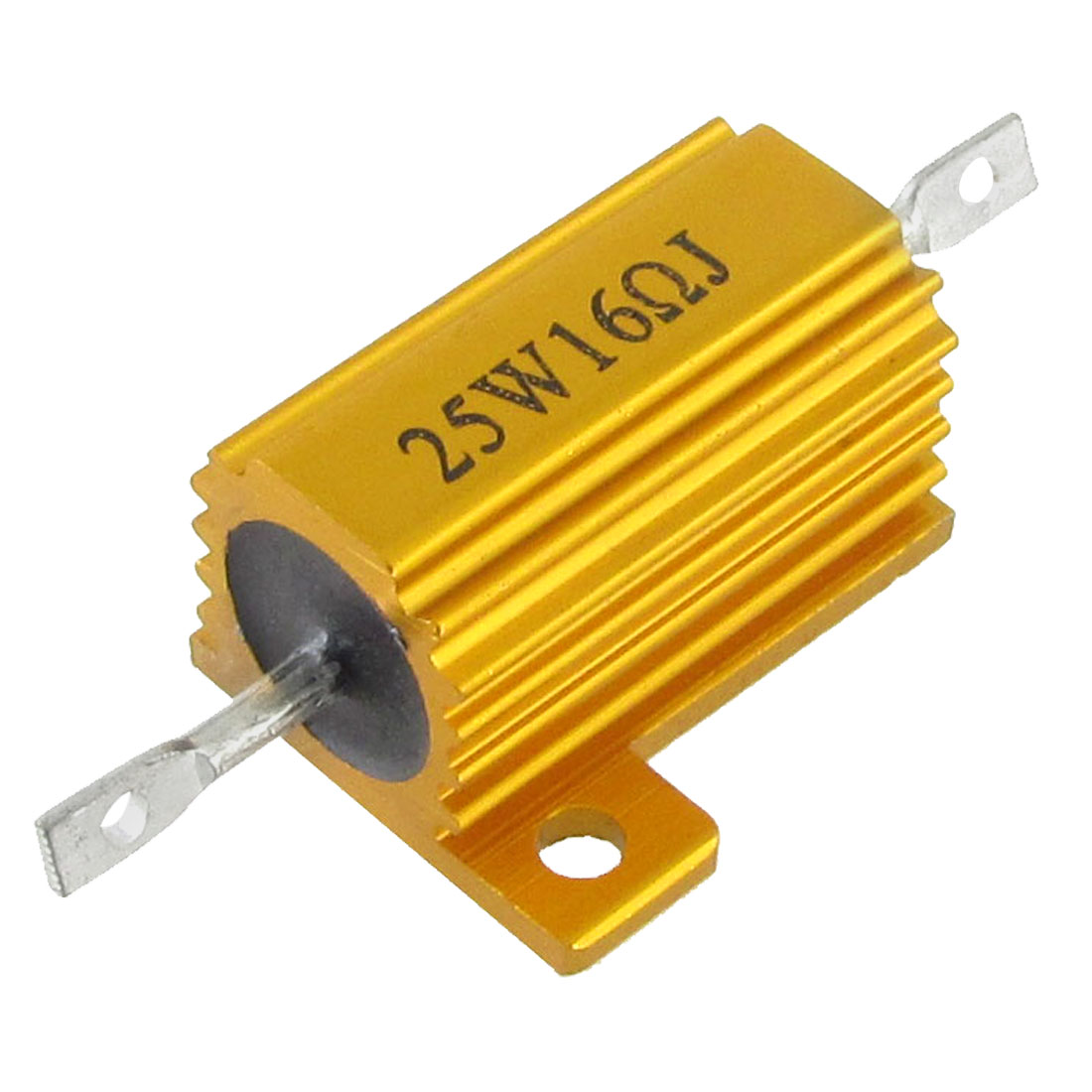 Gold Tone 5% 16 Ohm 25W Aluminum Housed Wirewound Resistor
