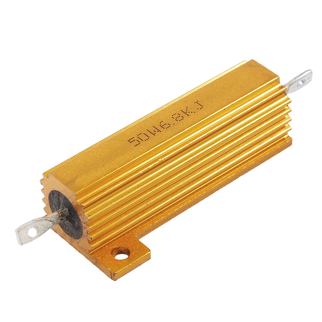 50W 6.8K Ohm Screw Tap Mounted Aluminum Housed Wirewound Resistor