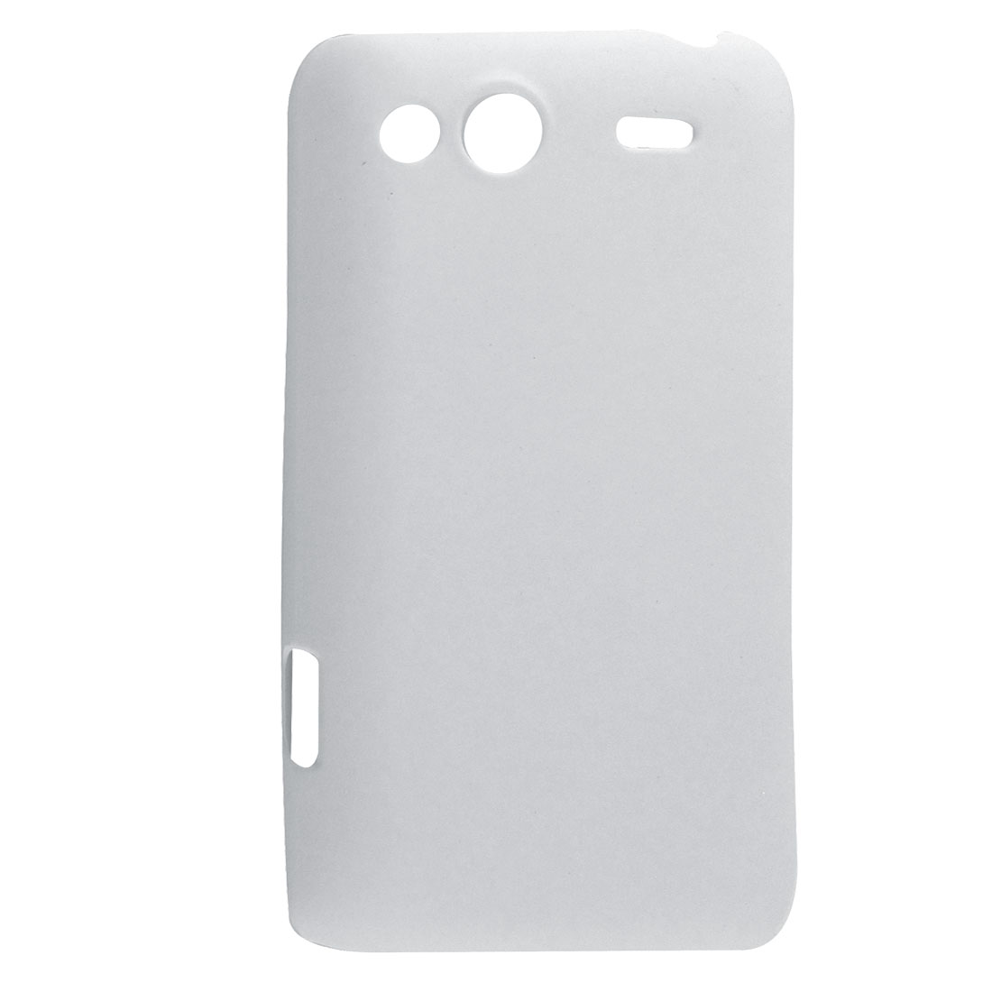 Rubberized Plastic Back Shell White for HTC Salsa G15