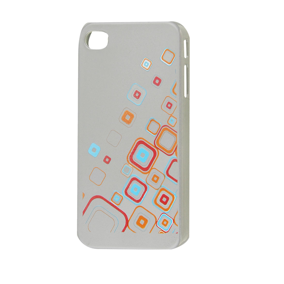 Silver Tone Hard Plastic Pane Prints Shell Case for iPhone 4 4S