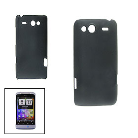Black Rubberized Hard Plastic Back Shell for HTC Salsa G15