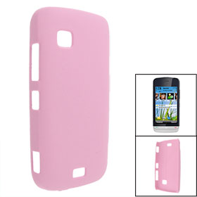 Pink Rubberized Hard Plastic Back Cover Case for Nokia C5-03