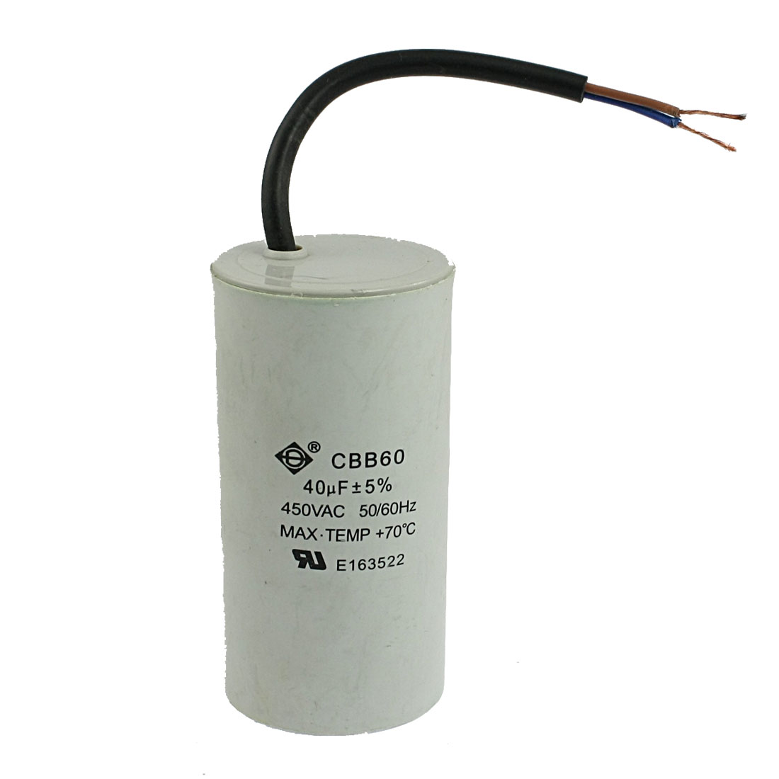 CBB60 40uF AC 450V 50/60Hz Washing Machine Polypropylene Film Motor Capacitor