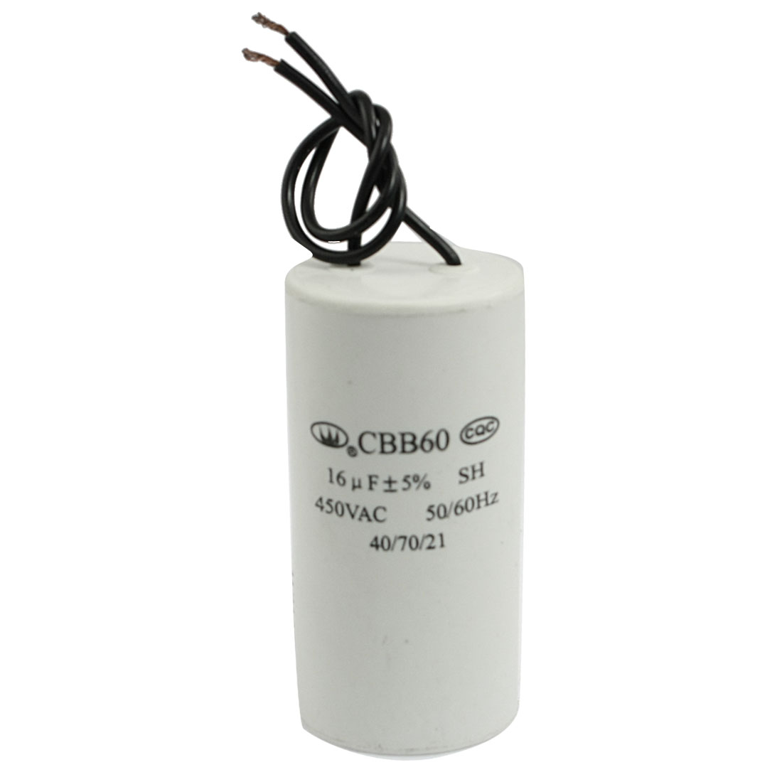 CBB60 16uF 450VAC 50/60Hz Round Shaped Polypropylene Film Motor Capacitor
