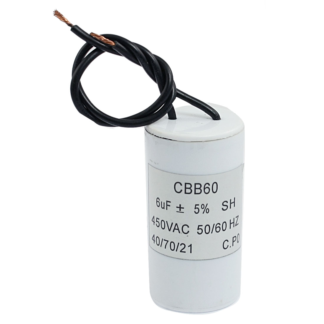 Washing Machine Polypropylene Film Motor Capacitor 450VAC 6uF CBB60 SH