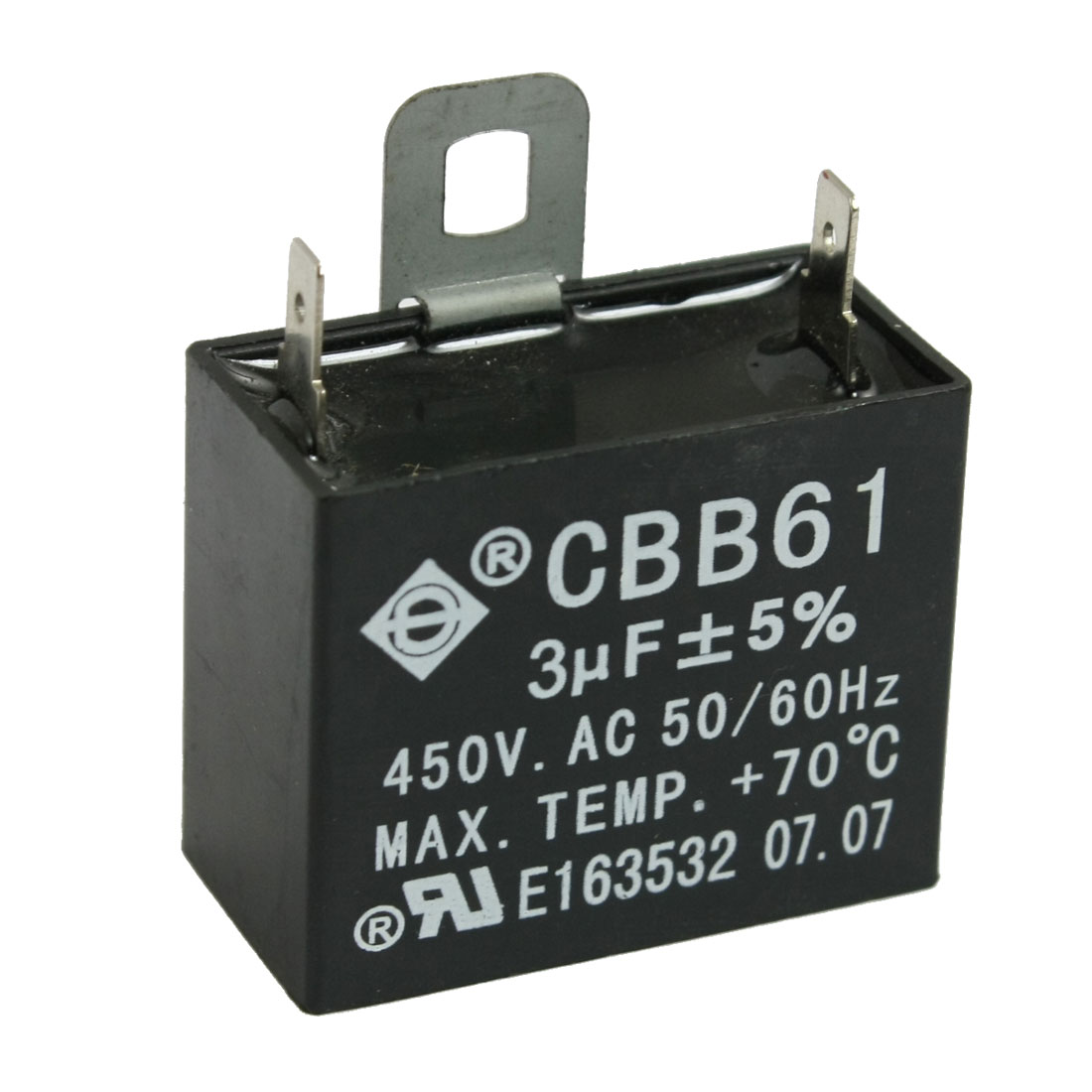 CBB61 450V 3uF 50/60Hz Polypropylene Film Motor Run Capacitor