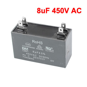 CBB61 8uF 450V AC 50/60Hz Air Conditioner Fan Motor Start Capacitor