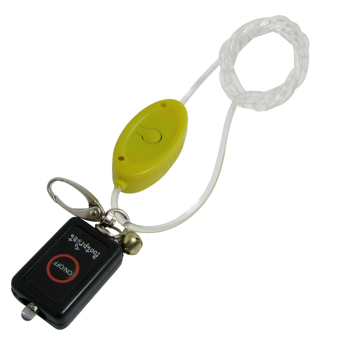 3 Light Modes LED Flashing Yellow Lobster Clasp Bell Pet Dog Harness Leash Strap