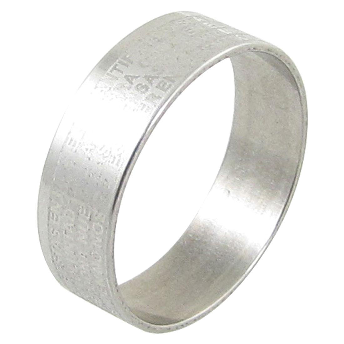 Silver Tone Cross Pattern Finger Ring US Sz 8 1/4 for Men