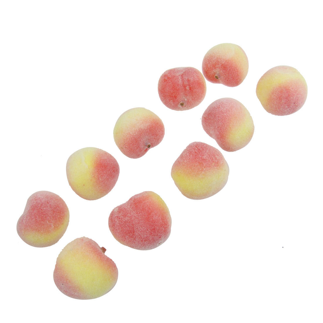 10 Pcs Faux Foam Craft Peach Simulation Fruits Table Decor
