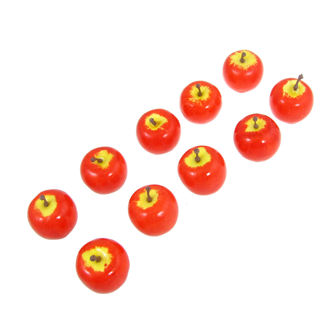 10 Pcs Red Faux Foam Craft Apple Simulation Fruits Table Ornament
