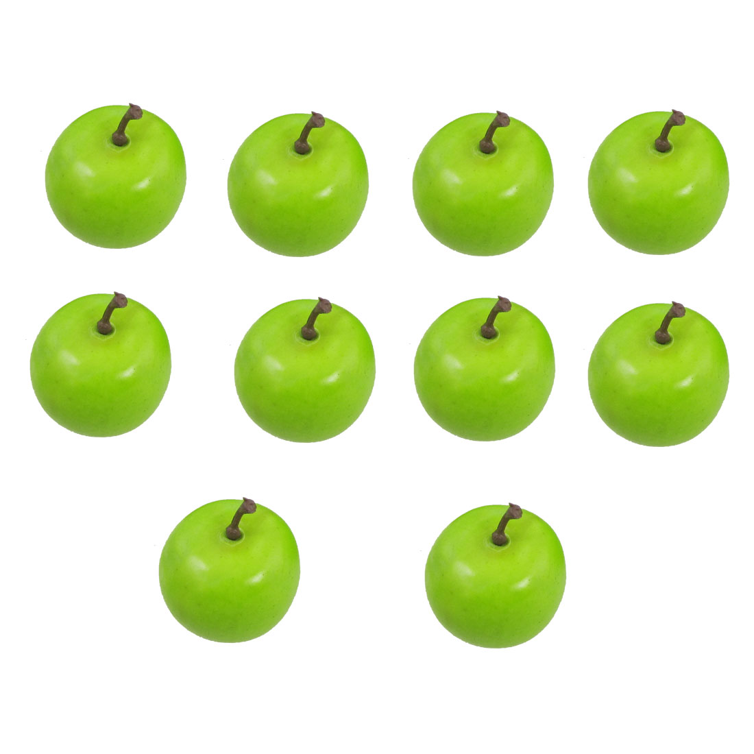 Green Manmade Foam Artifical Apple Simulation Fruits Cabinet Decor 10 Pcs