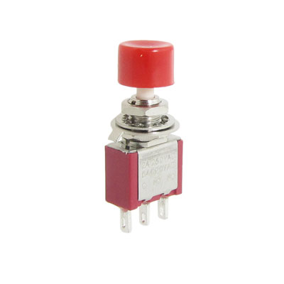 2 Pcs AC 250V 2A 120V 5A SPDT NO NC Momentary Push Button Switch