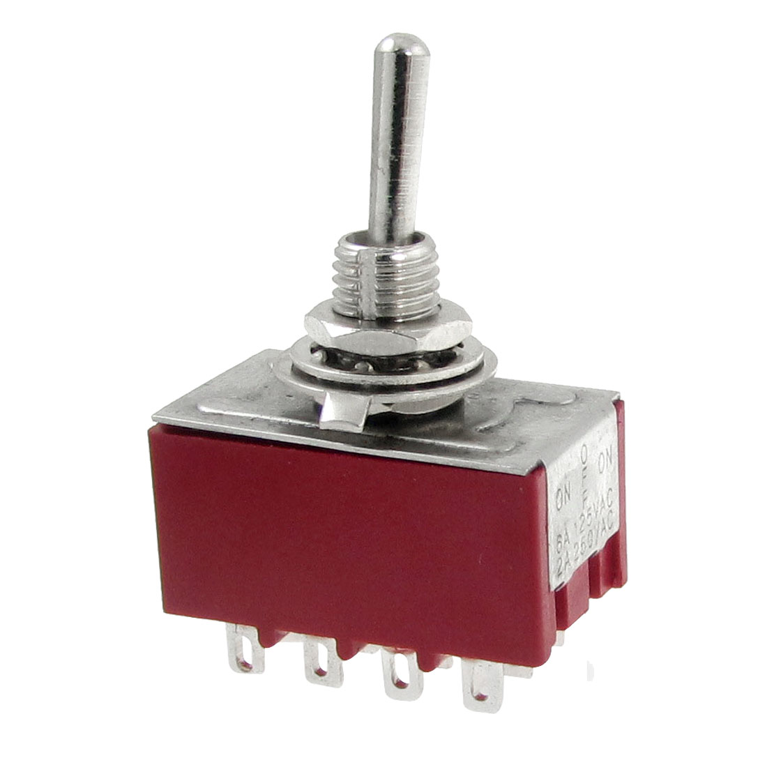 AC 250V 2A 125V 6A ON/OFF/ON 3 Position 4PDT 12 Pins Toggle Switch