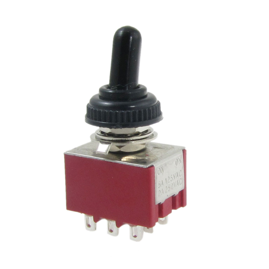 AC 250V 2A 125V 5A ON/ON 2 Way 3PDT 9 Pins Toggle Switch with Waterproof Boot