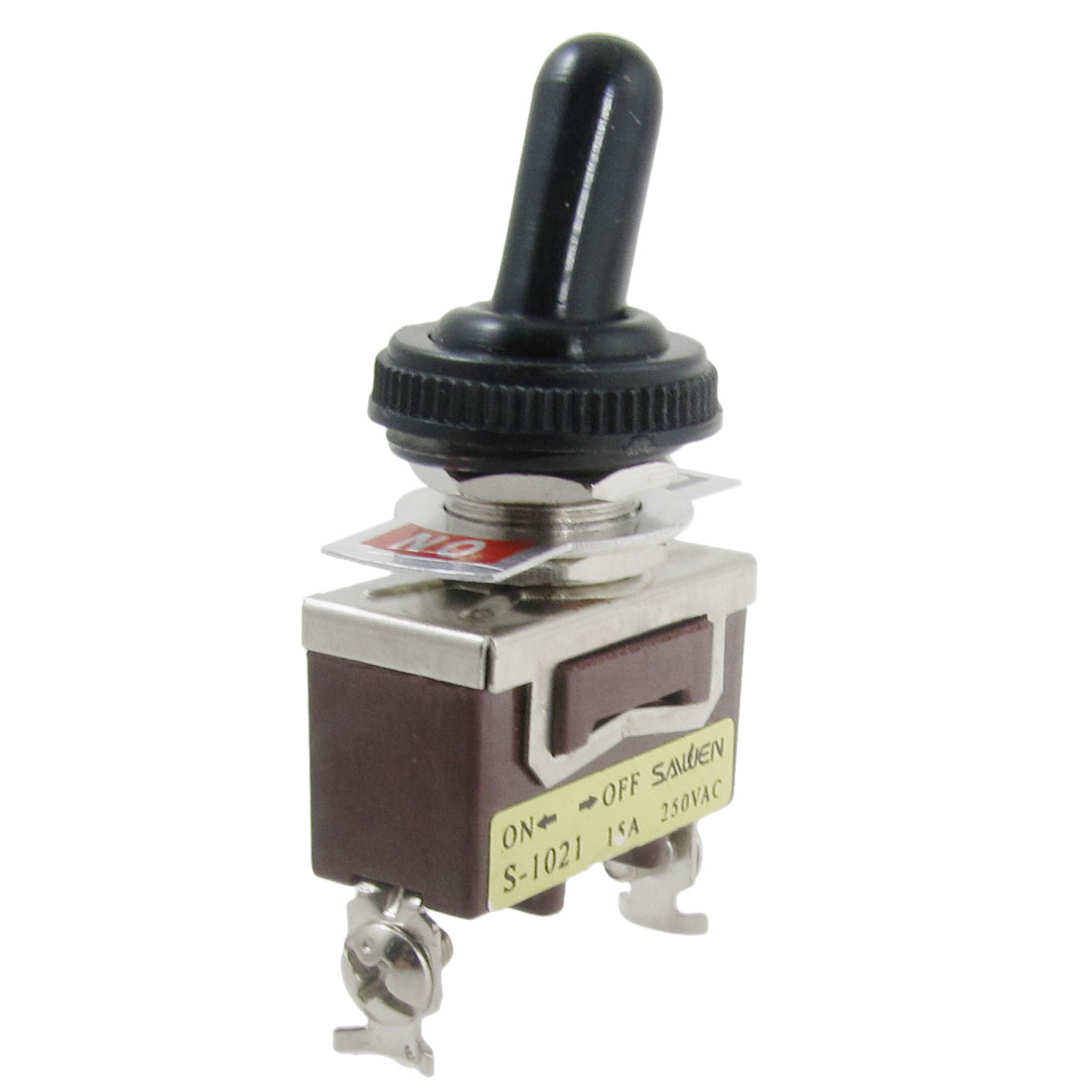 AC 250V 15A Amps ON/OFF 2 Position SPST 2 Screw Terminals Toggle Switch with Waterproof Boot