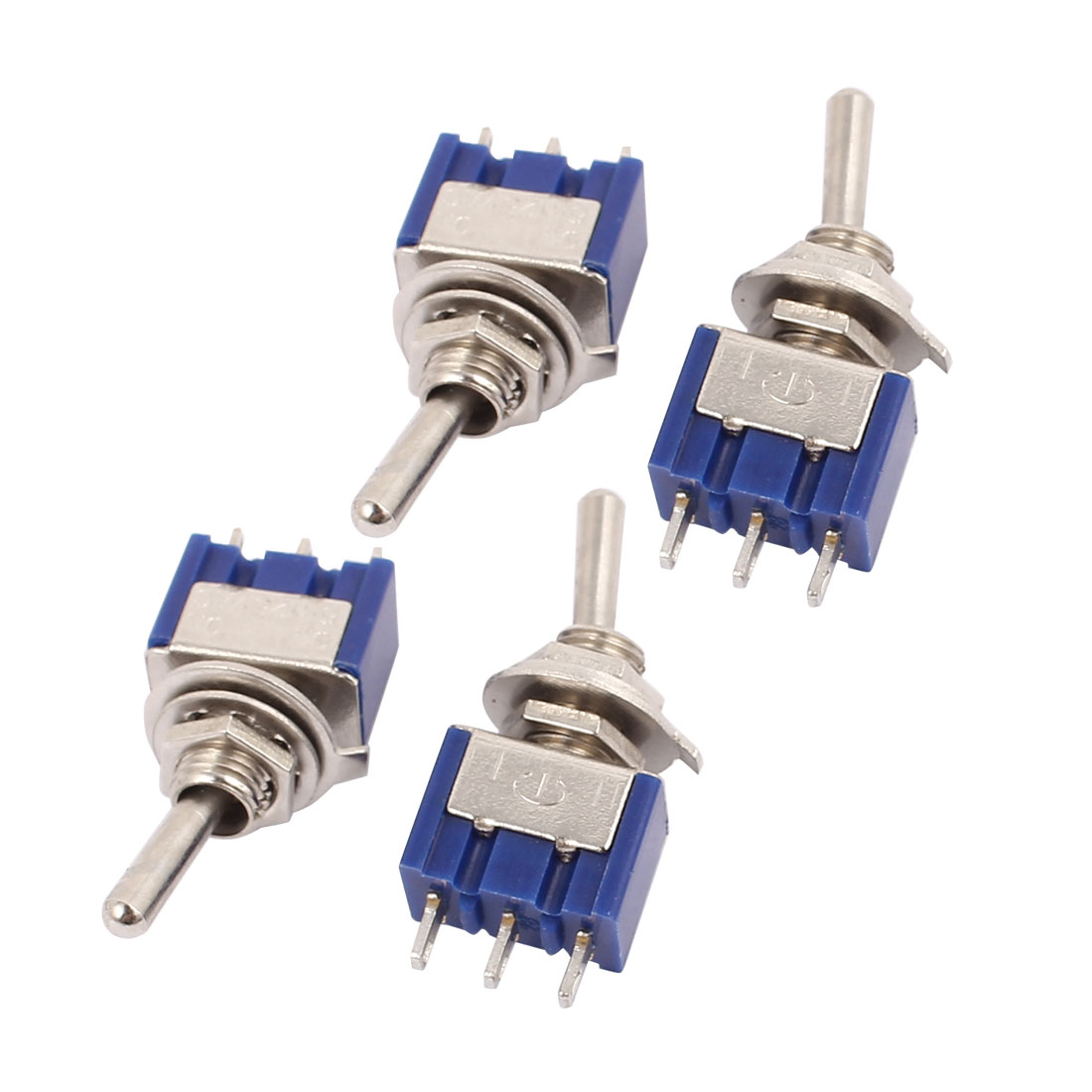 4 Pcs AC 125V 3A ON/ON SMTS-102 2 Position 3 Pins 1P2T SPDT Mini Toggle Switch