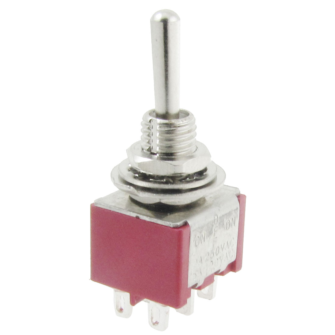 Momentary ON/OFF/Momentary ON 3 Position DPDT 6 Pins Toggle Switch