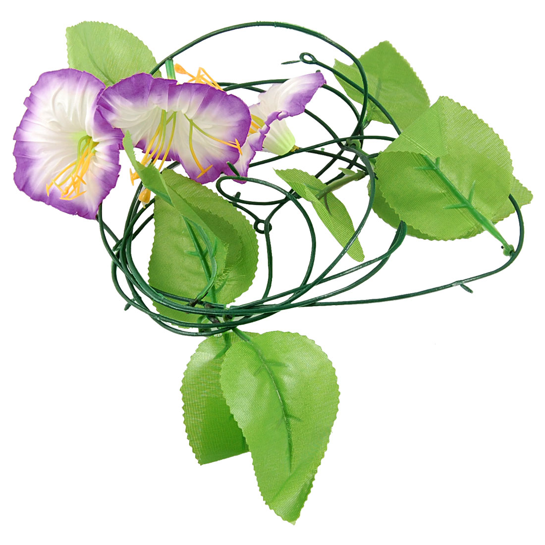 Party Decor Artificial Purple White Morning Glory Hanging Flower Vine 2.4M