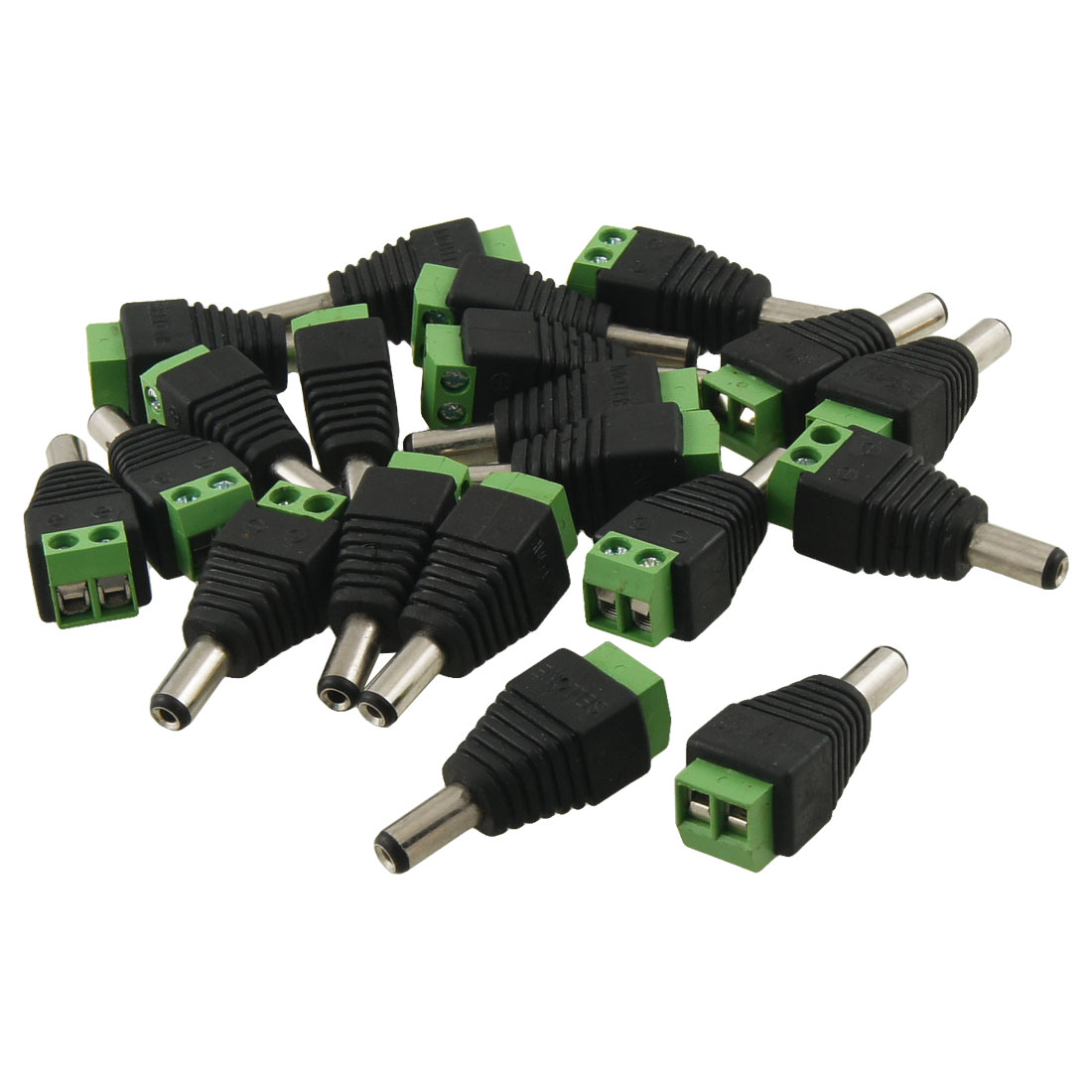 20 Pcs 2.1 x 5.5mm DC Power Male Connector Plug for CCTV Camera
