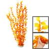 """17.3"""" Emulational Orange Plastic Grass Leaf Plant for Aquarium Tank"""