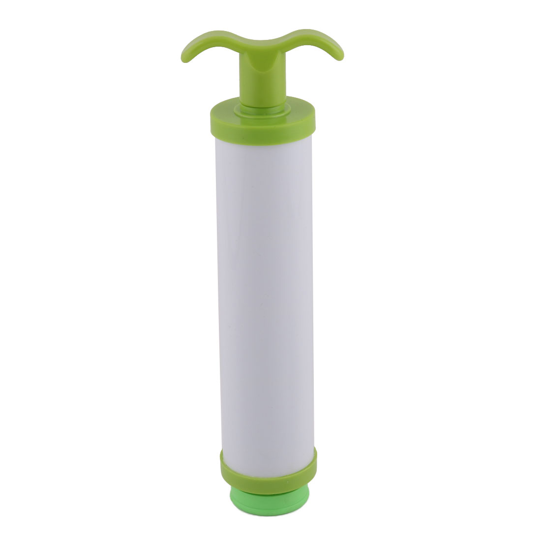 White Green Plastic Compressed Vacuum Space Hand Air Deflation Pump