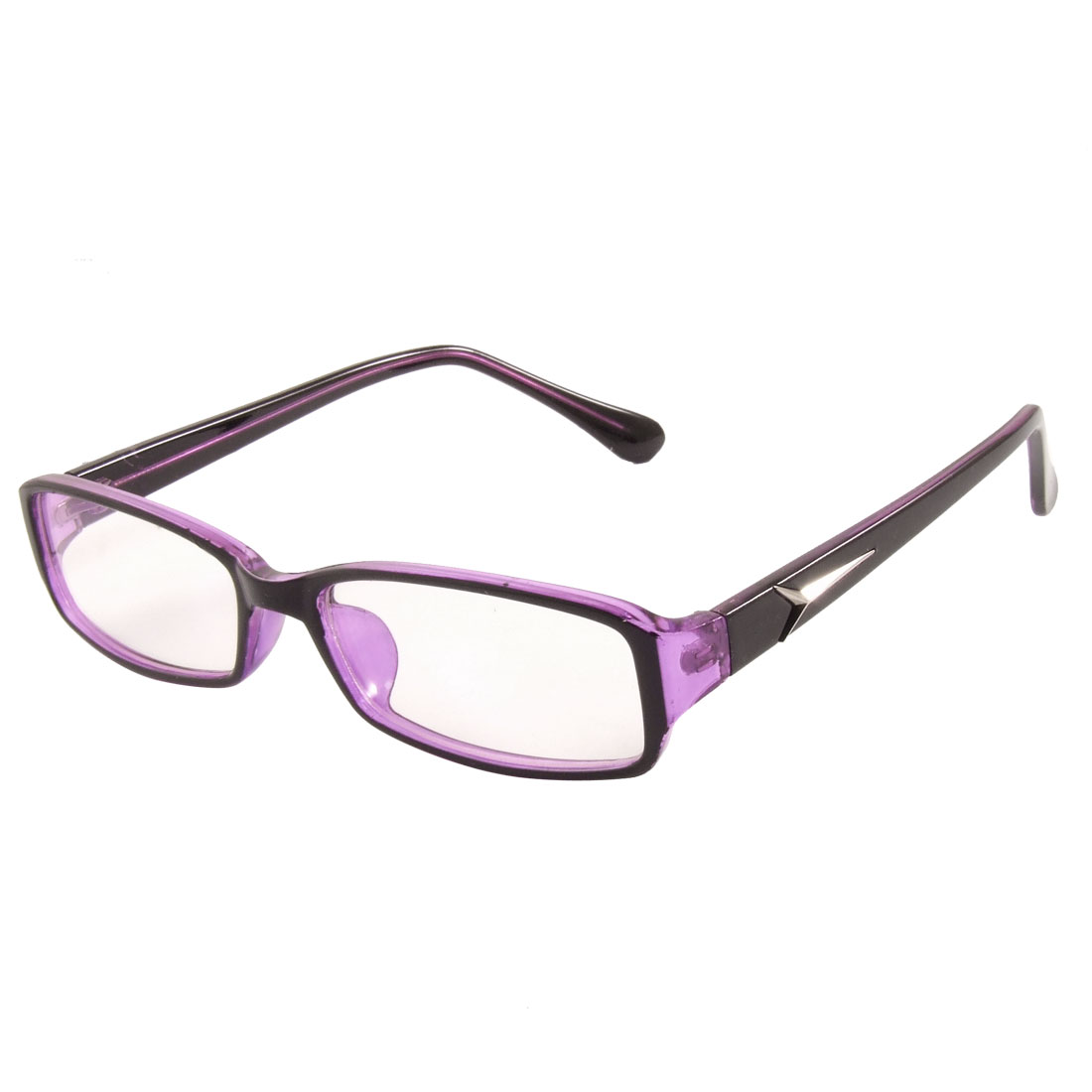 Ladies Purple Black Full Frame Multi Coated Lens Plain Plano Glasses Spectacles