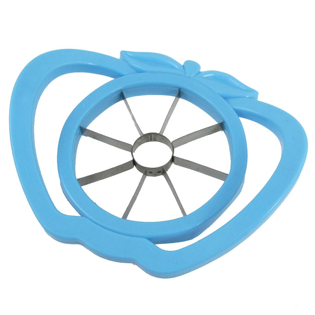 Blue Plastic Frame Metal Edge Milling Appler Shape Pear Corer Slicer Tool
