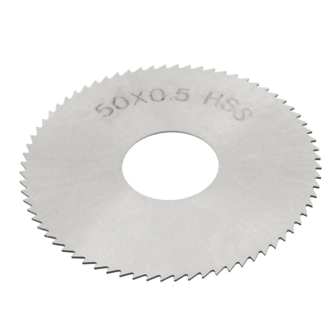 50mm OD 0.5mm Thick 72T HSS Circular Slitting Saw Cutter