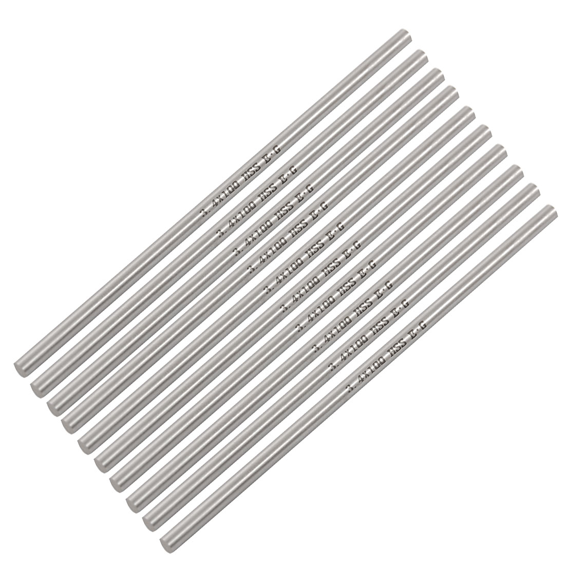 "10 Pcs 1/9"" x 3 31/32"" HSS High Speed Steel Round Lathe Bars Rods"