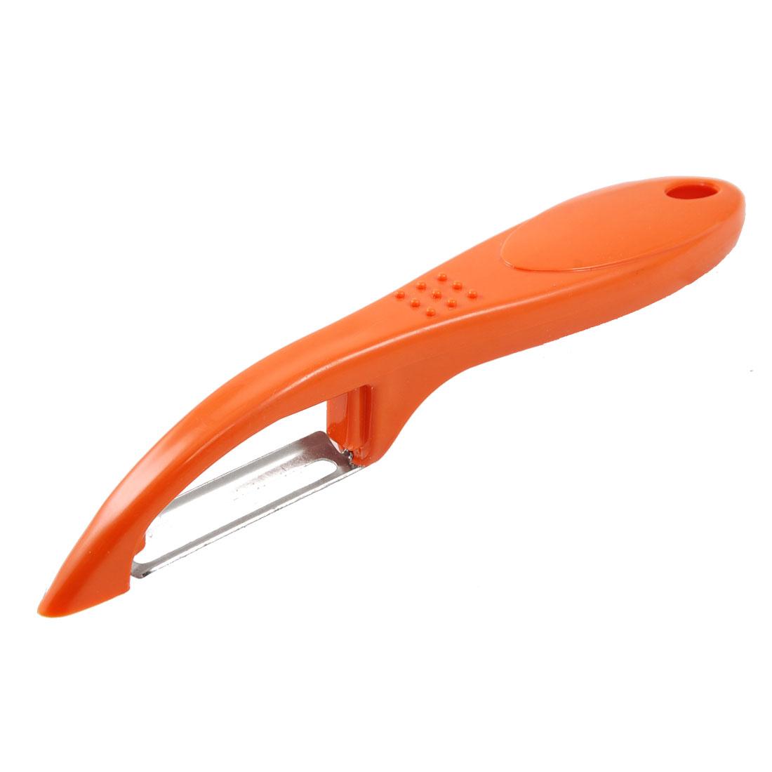 Stainless Steel Edge Milling Orange Grip Bad Spot Remove Apple Fruit Peeler