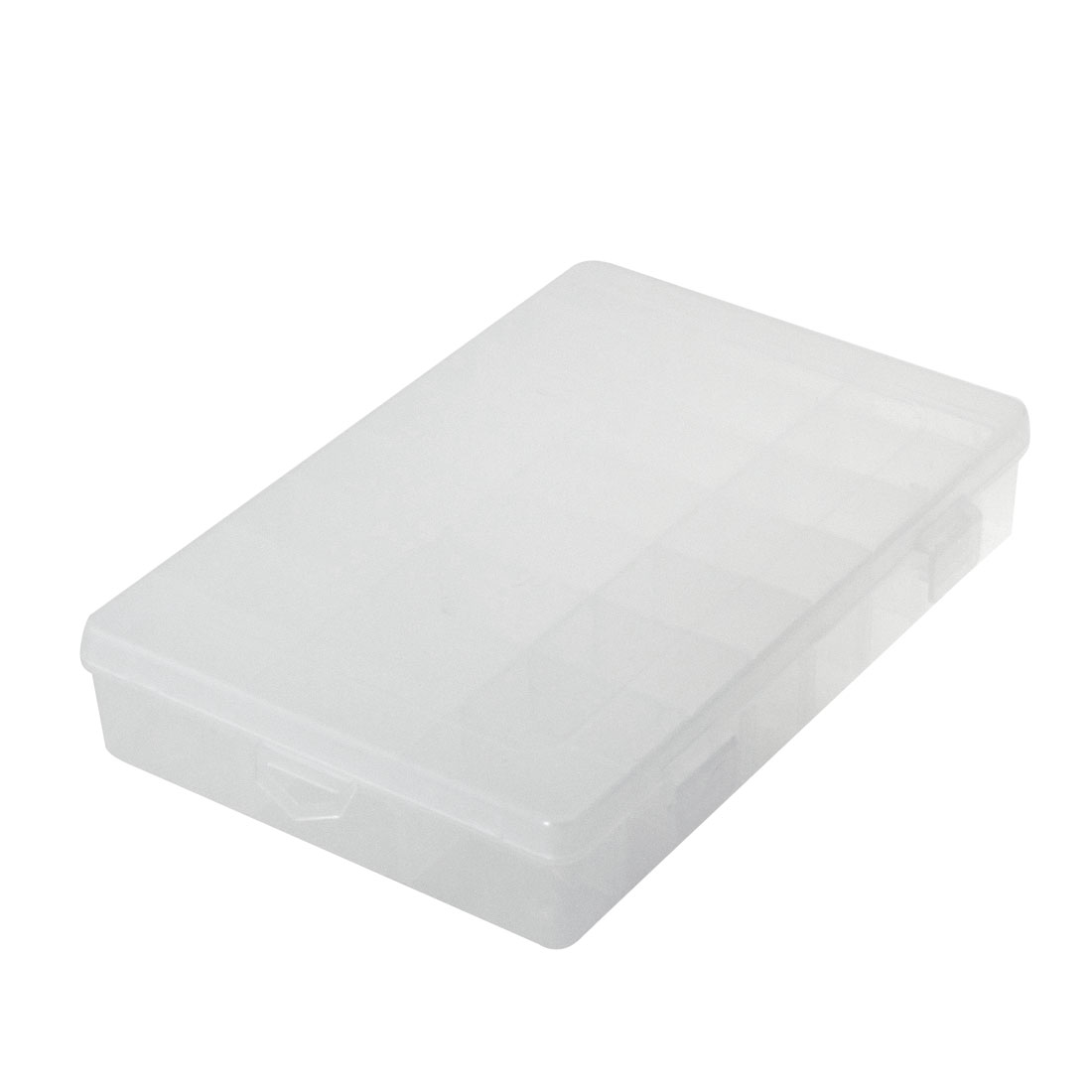 Jewelry Components Plastic Assort Case Storage Collect Box Clear White