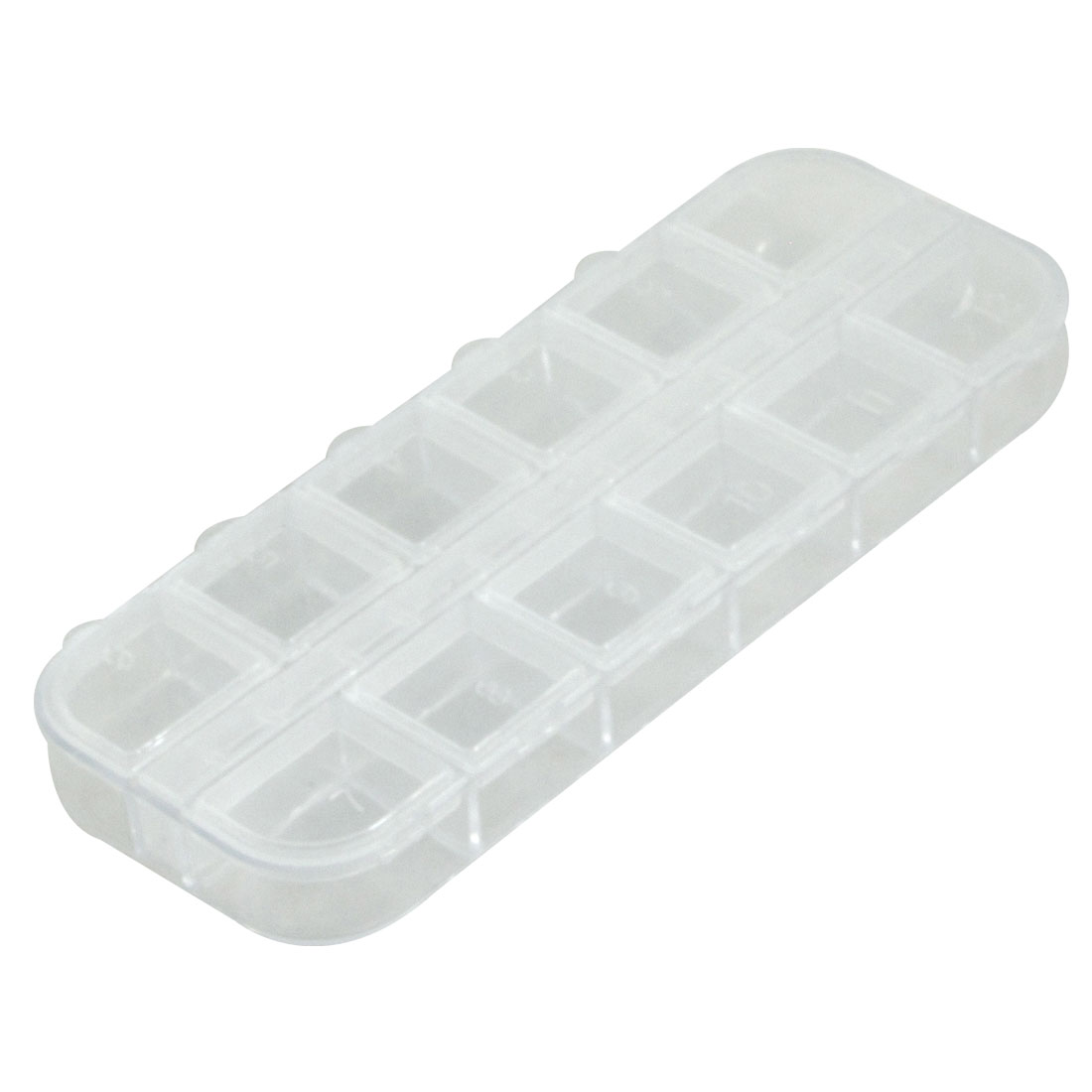 Clear White Transparent Plastic Components Collect Case Box