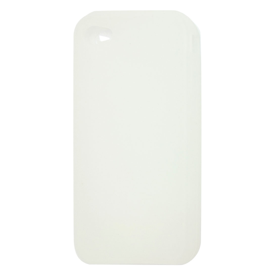 Protectove Soft Silicone Cover Case White for Apple iPhone 4 4G